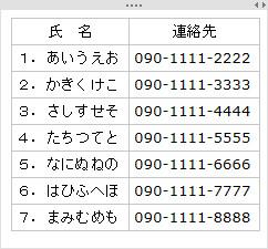 タスクノートシールの表1