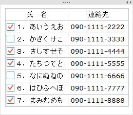 タスクノートシールの表3