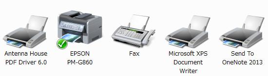 Windows7 デバイスとプリンター