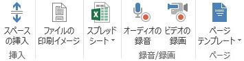 OneNote 挿入メニュー 固有コマンド